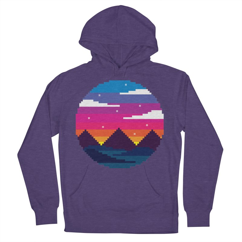 Pixel Sunset Men's Pullover Hoody by Mouki K. Butt: Artist Shop