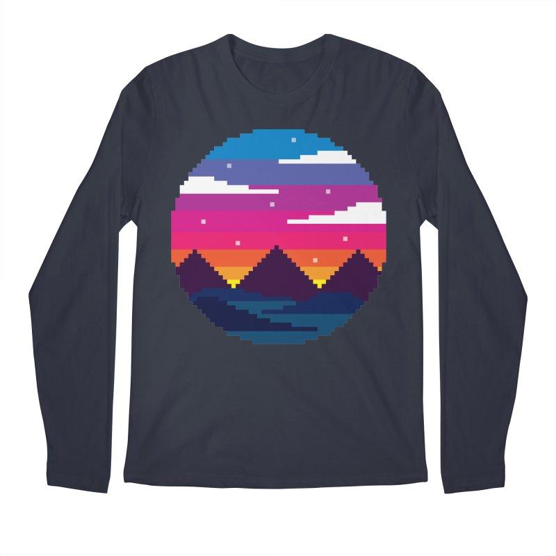 Pixel Sunset Men's Longsleeve T-Shirt by Mouki K. Butt: Artist Shop