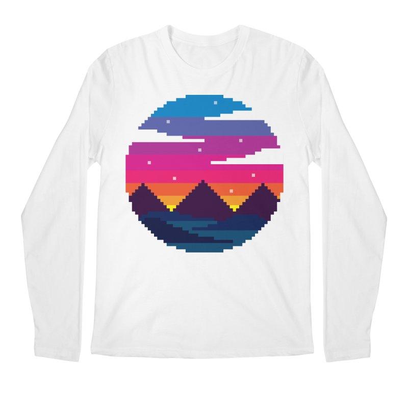 Pixel Sunset Men's Regular Longsleeve T-Shirt by Mouki K. Butt: Artist Shop