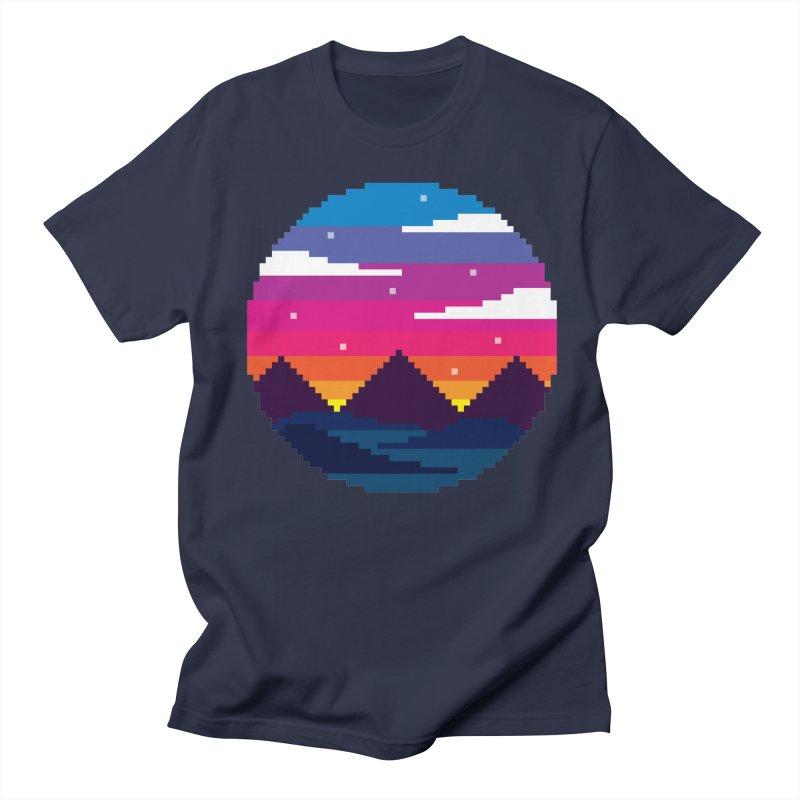 Pixel Sunset Women's Unisex T-Shirt by Mouki K. Butt: Artist Shop