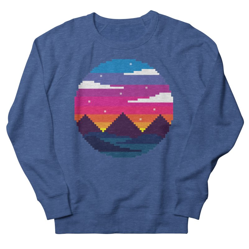 Pixel Sunset Women's Sweatshirt by Mouki K. Butt: Artist Shop