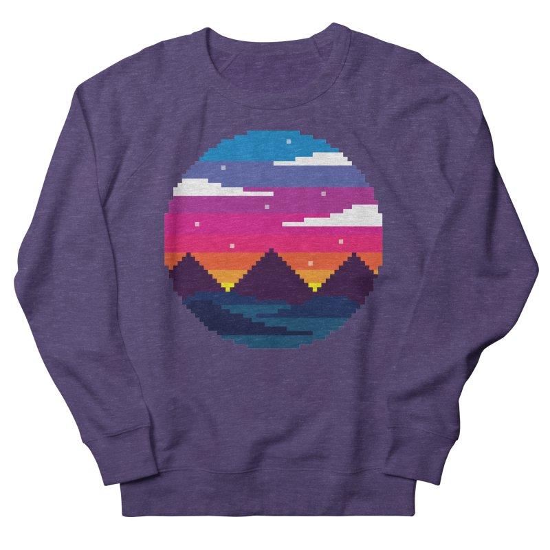 Pixel Sunset Women's French Terry Sweatshirt by Mouki K. Butt: Artist Shop