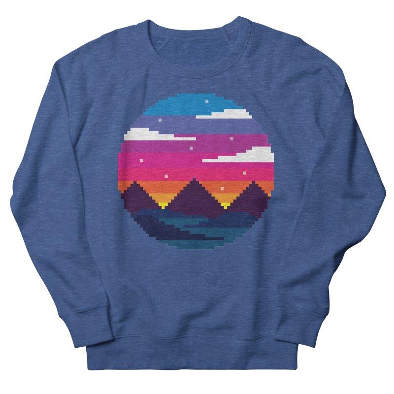 Pixel Sunset Men's French Terry Sweatshirt by Mouki K. Butt: Artist Shop