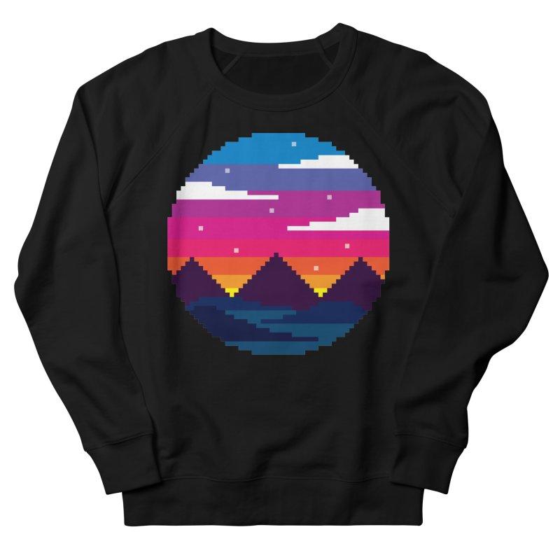 Pixel Sunset Men's Sweatshirt by Mouki K. Butt: Artist Shop