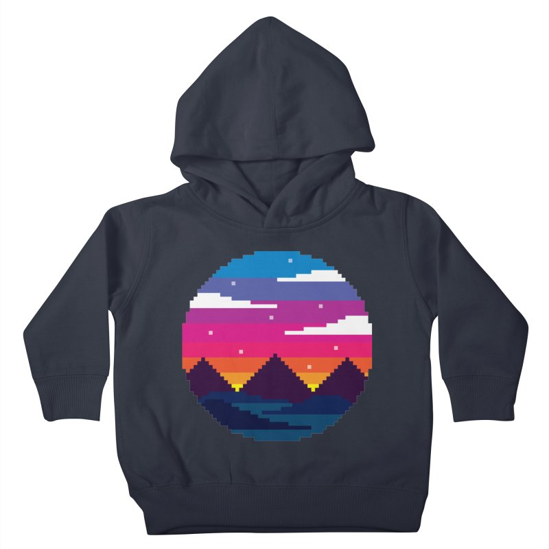 Pixel Sunset Kids Toddler Pullover Hoody by Mouki K. Butt: Artist Shop
