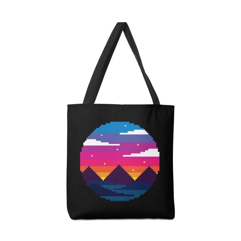 Pixel Sunset Accessories Bag by Mouki K. Butt: Artist Shop