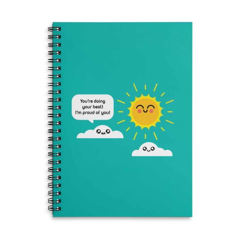 Proud Cloud Accessories Lined Spiral Notebook by Mouki K. Butt: Artist Shop
