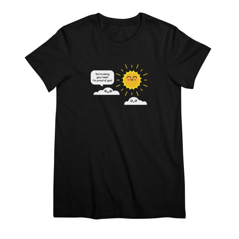Proud Cloud Women's Premium T-Shirt by Mouki K. Butt: Artist Shop