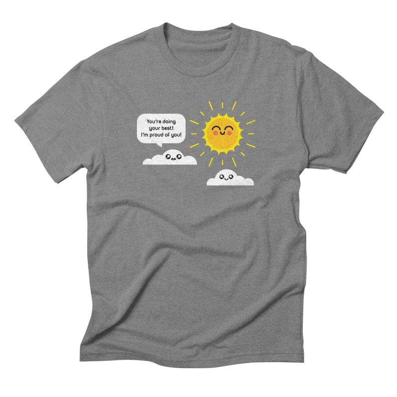 Proud Cloud Men's Triblend T-Shirt by Mouki K. Butt: Artist Shop
