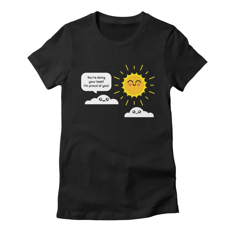 Proud Cloud Women's Fitted T-Shirt by Mouki K. Butt: Artist Shop