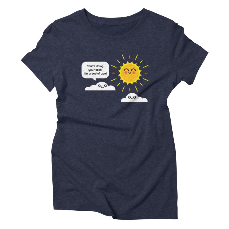 Proud Cloud Women's Triblend T-Shirt by Mouki K. Butt: Artist Shop