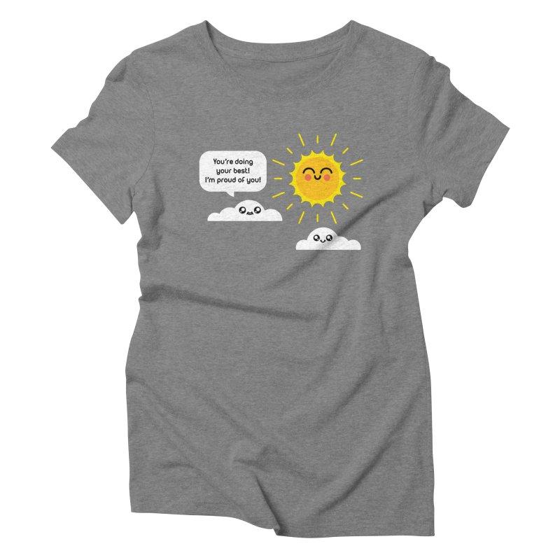 Proud Cloud Women's Triblend T-Shirt by Mouki K. Butt: Artist Shop