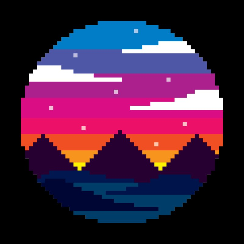 Pixel Sunset by Mouki K. Butt: Artist Shop