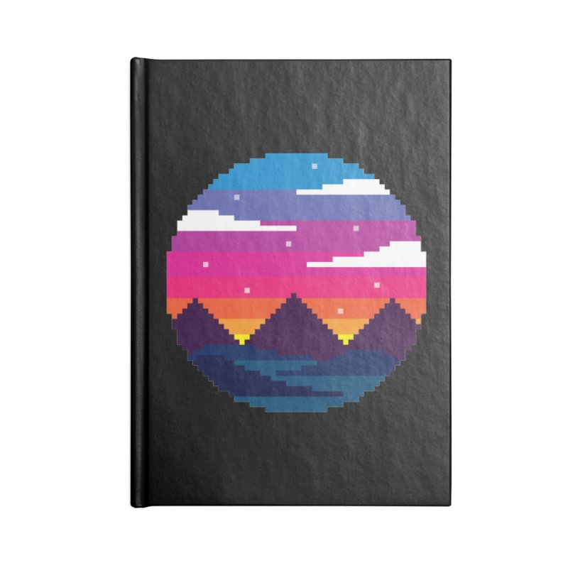 Pixel Sunset Accessories Lined Journal Notebook by Mouki K. Butt: Artist Shop