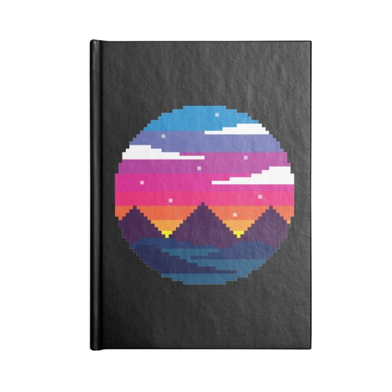 Pixel Sunset Accessories Blank Journal Notebook by Mouki K. Butt: Artist Shop