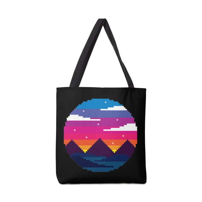 Pixel Sunset Accessories Tote Bag Bag by Mouki K. Butt: Artist Shop