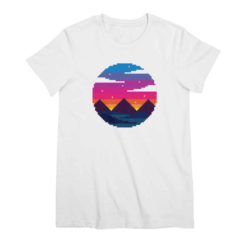 Pixel Sunset Women's Premium T-Shirt by Mouki K. Butt: Artist Shop