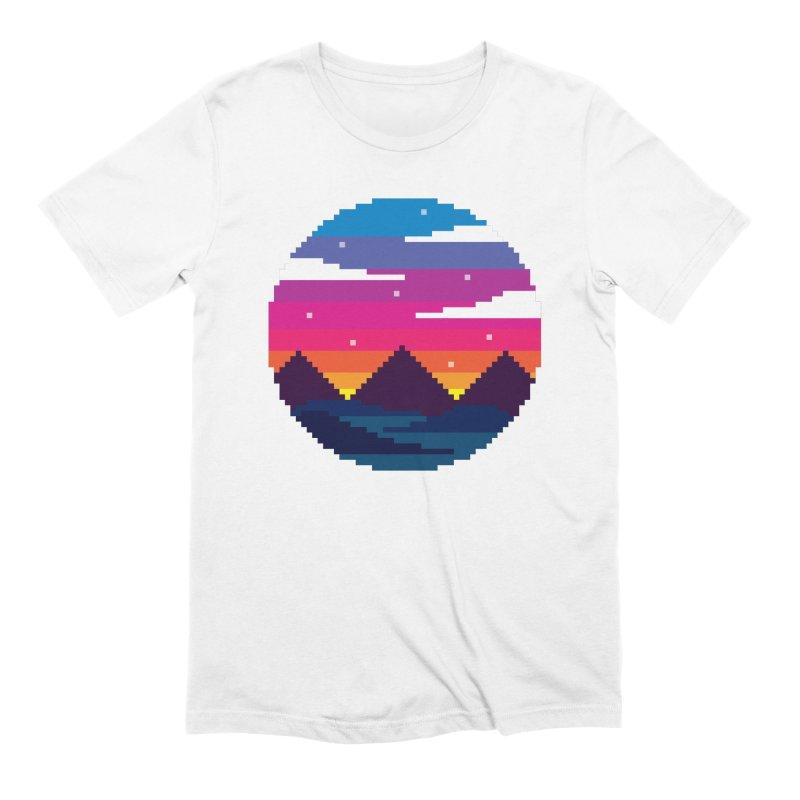 Pixel Sunset Men's Extra Soft T-Shirt by Mouki K. Butt: Artist Shop