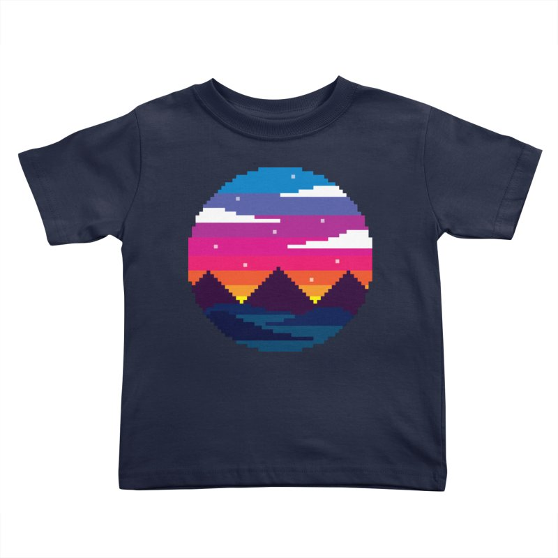 Pixel Sunset Kids Toddler T-Shirt by Mouki K. Butt: Artist Shop