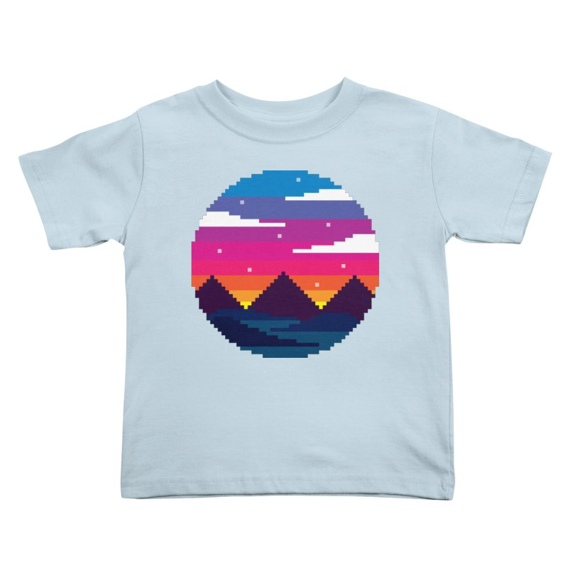 Pixel Sunset Kids Toddler T-Shirt by Mouki K. Butt: Artist Shop