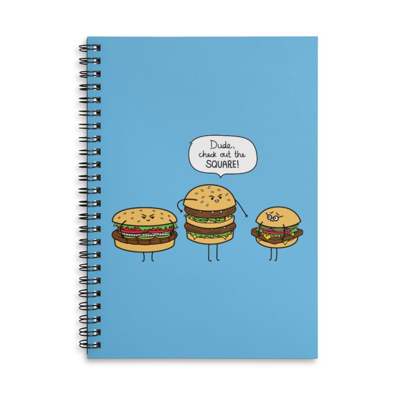 Burger Bullies Accessories Lined Spiral Notebook by Mouki K. Butt: Artist Shop