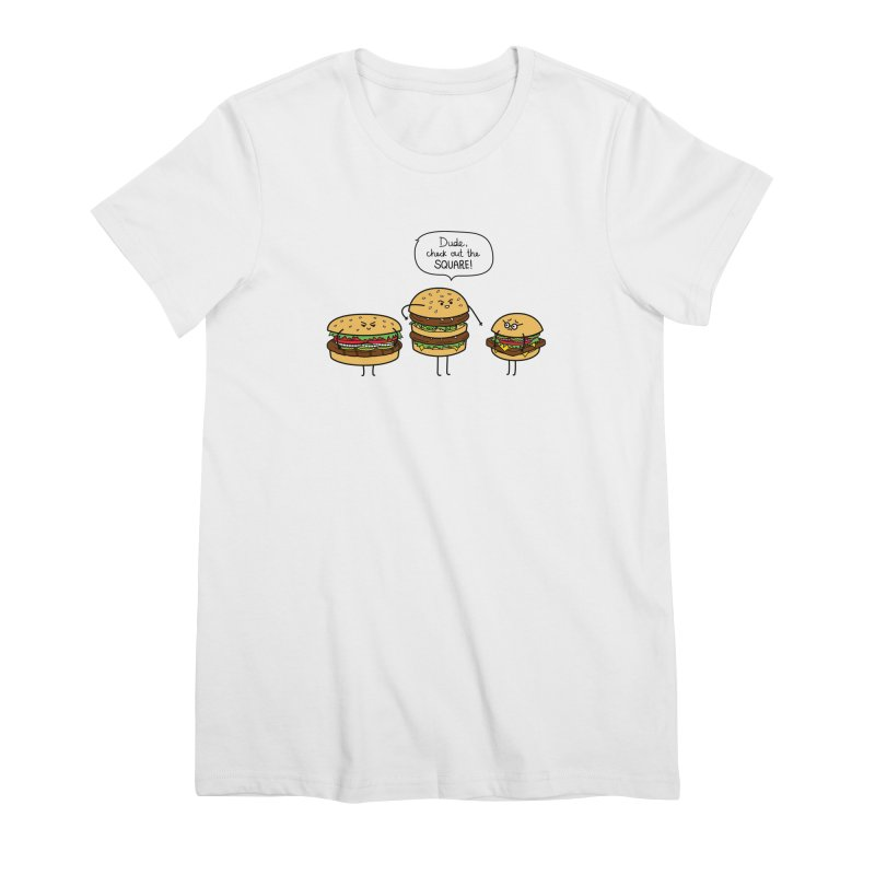 Burger Bullies Women's Premium T-Shirt by Mouki K. Butt: Artist Shop