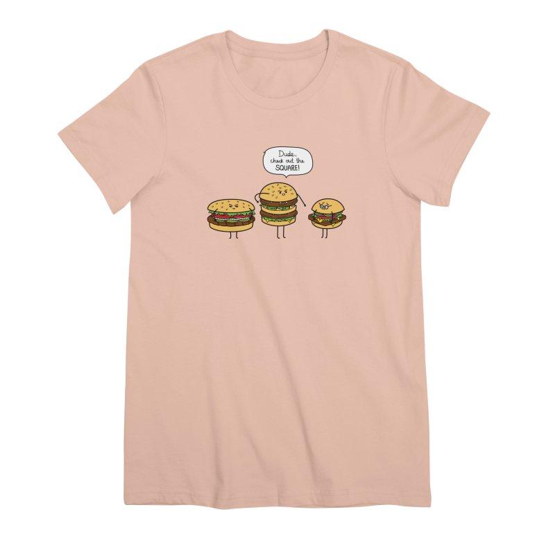Burger Bullies Women's Premium T-Shirt by Mouki K. Butt: Artist Shop