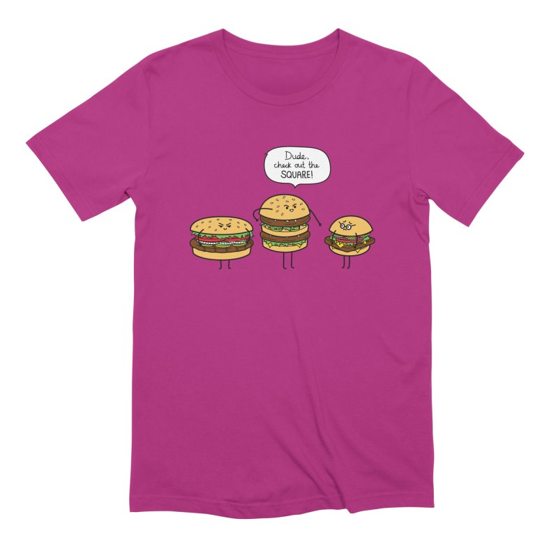 Burger Bullies Men's Extra Soft T-Shirt by Mouki K. Butt: Artist Shop