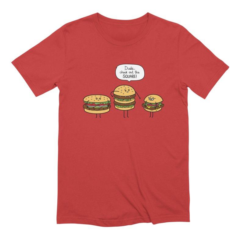 Burger Bullies Men's Extra Soft T-Shirt by Mouki K. Butt: Artist Shop