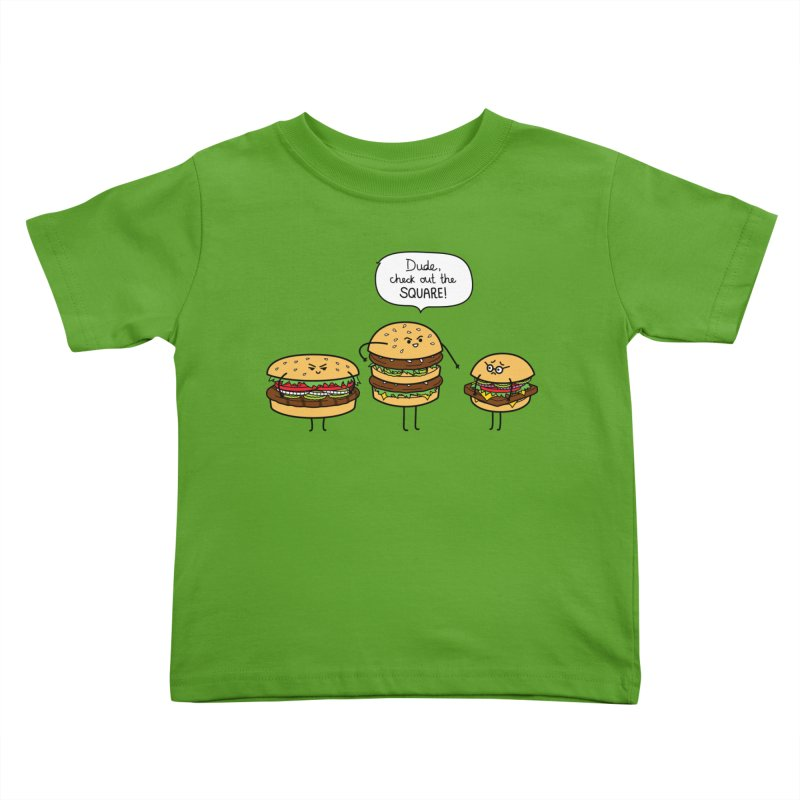 Burger Bullies Kids Toddler T-Shirt by Mouki K. Butt: Artist Shop