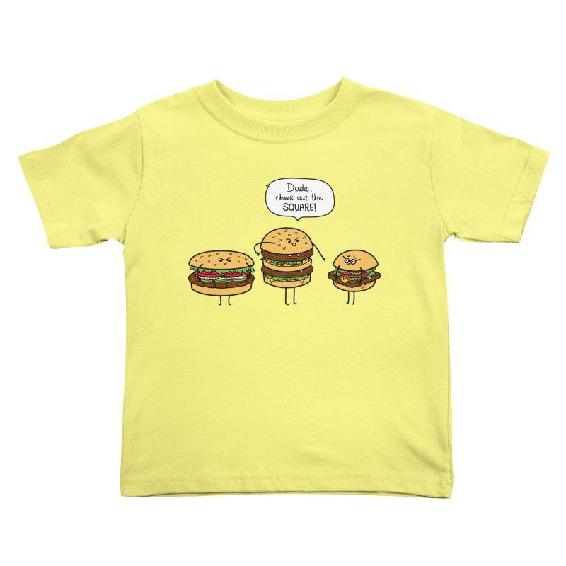 Burger Bullies Kids Toddler T-Shirt by Mouki K. Butt: Artist Shop