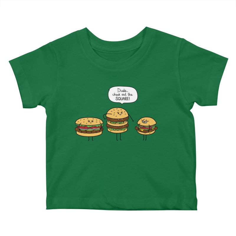 Burger Bullies Kids Baby T-Shirt by Mouki K. Butt: Artist Shop