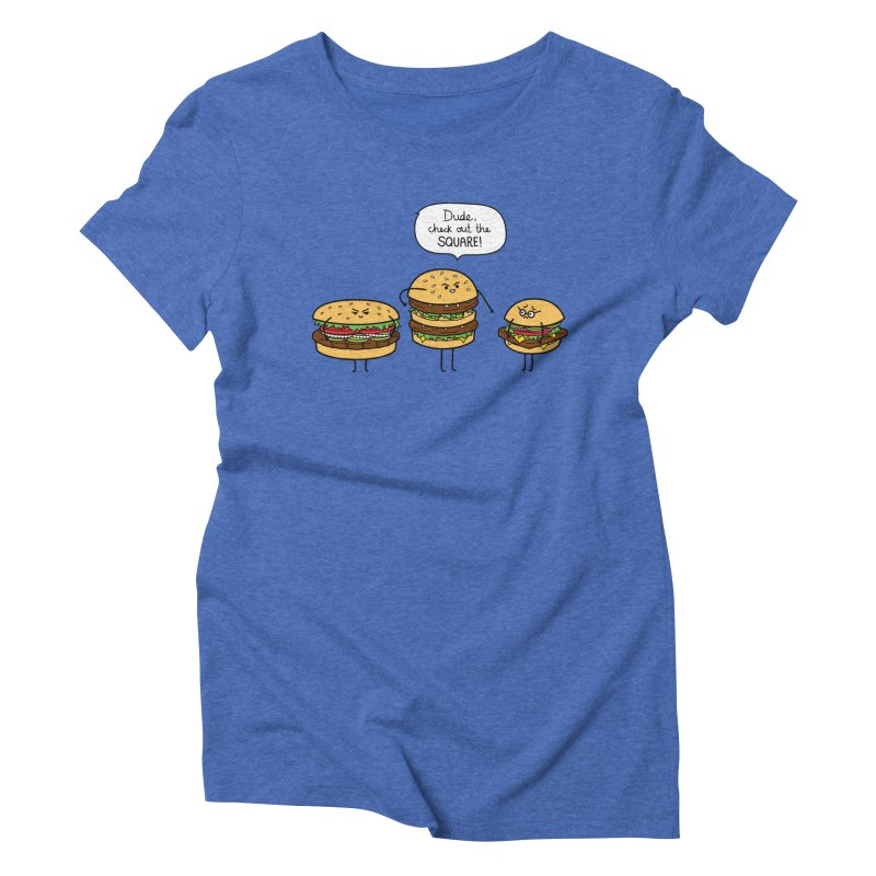 Burger Bullies Women's Triblend T-Shirt by Mouki K. Butt: Artist Shop