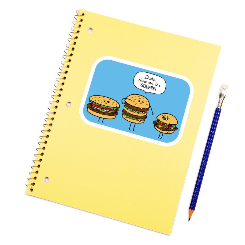 Burger Bullies Accessories Sticker by Mouki K. Butt: Artist Shop