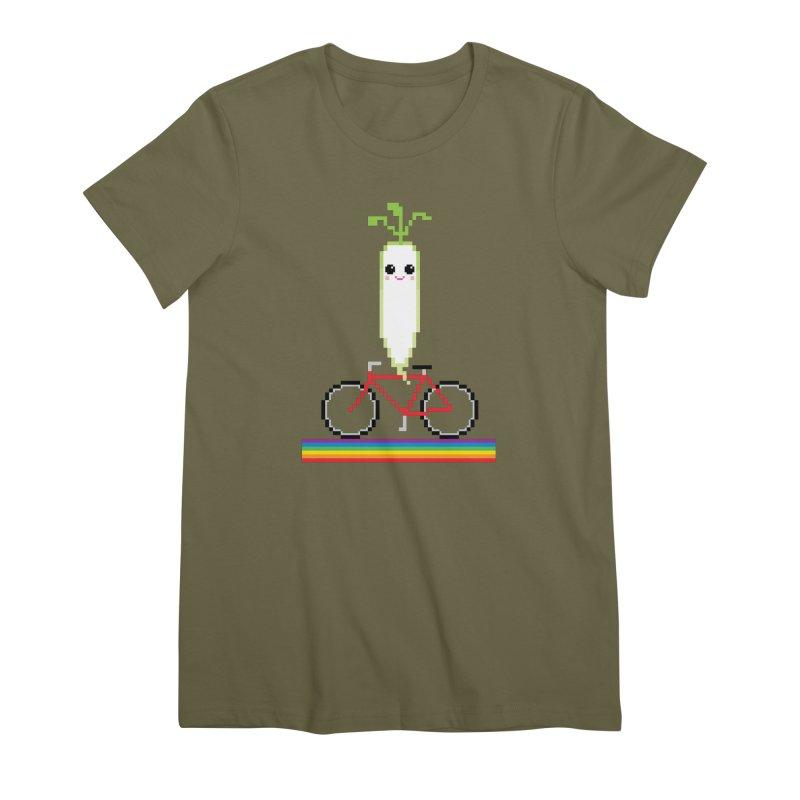 Daikon Bike Women's Premium T-Shirt by Mouki K. Butt: Artist Shop
