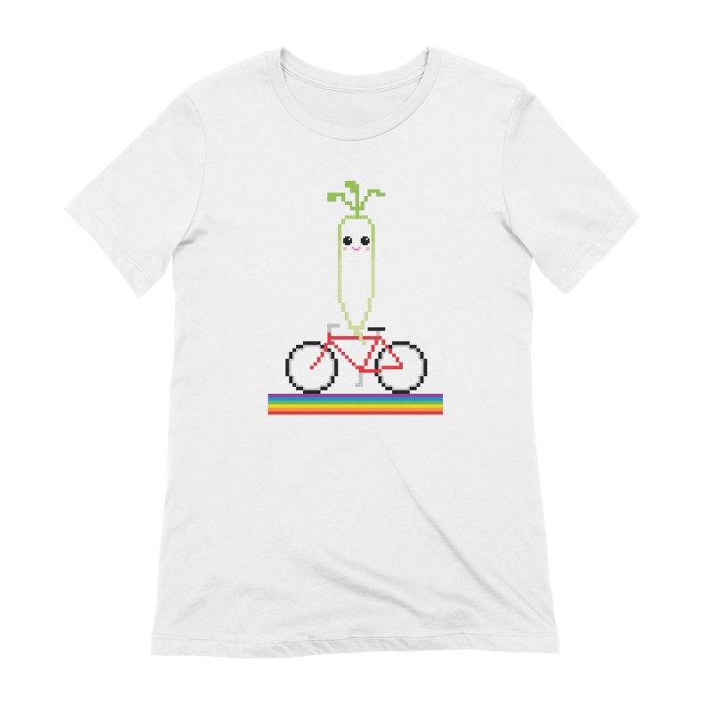 Daikon Bike Women's Extra Soft T-Shirt by Mouki K. Butt: Artist Shop