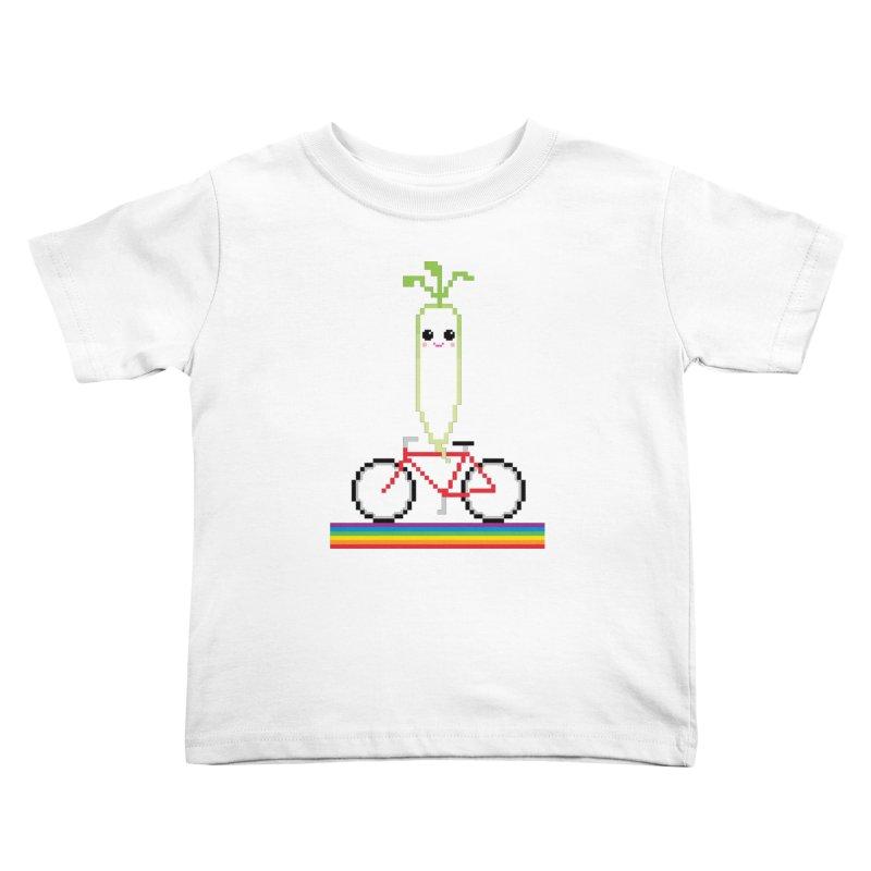 Daikon Bike Kids Toddler T-Shirt by Mouki K. Butt: Artist Shop