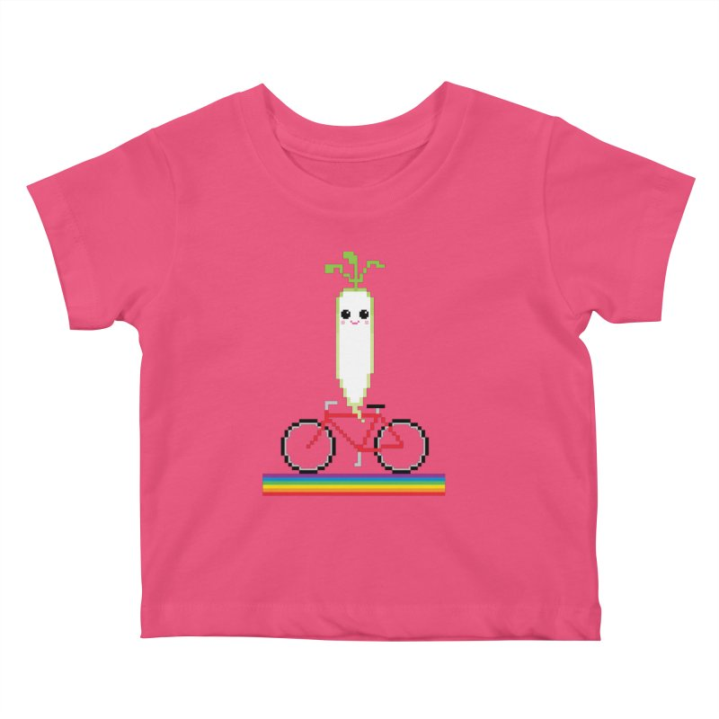 Daikon Bike Kids Baby T-Shirt by Mouki K. Butt: Artist Shop
