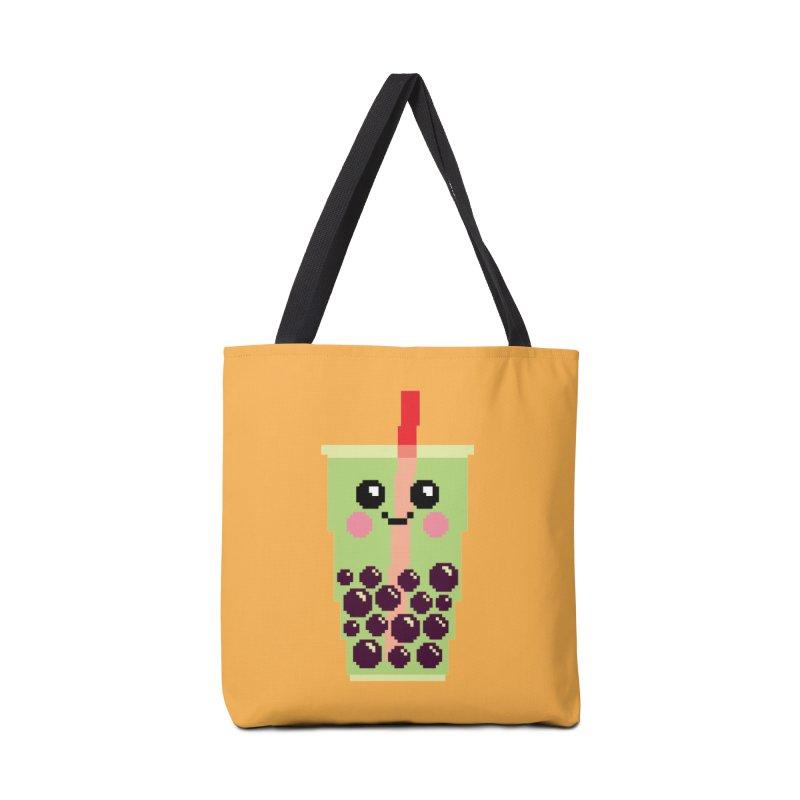 Happy Pixel Bubble Tea Accessories Bag by Mouki K. Butt: Artist Shop