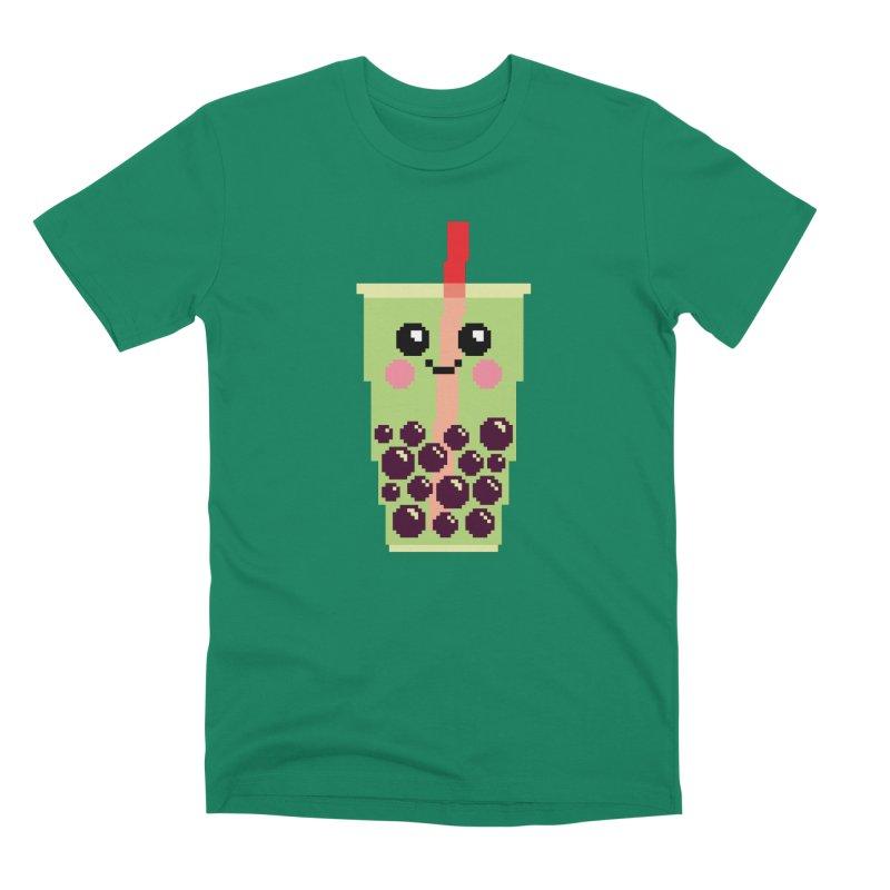 Happy Pixel Bubble Tea Men's Premium T-Shirt by Mouki K. Butt: Artist Shop