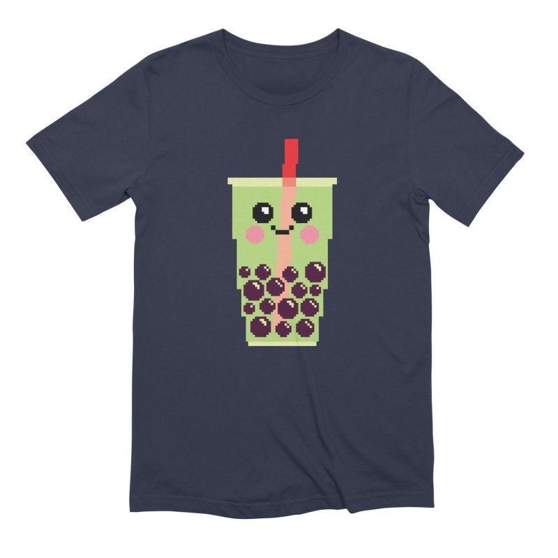 Happy Pixel Bubble Tea Men's Extra Soft T-Shirt by Mouki K. Butt: Artist Shop