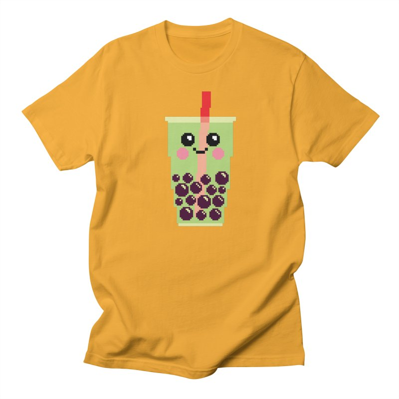 Happy Pixel Bubble Tea Men's T-Shirt by Mouki K. Butt: Artist Shop