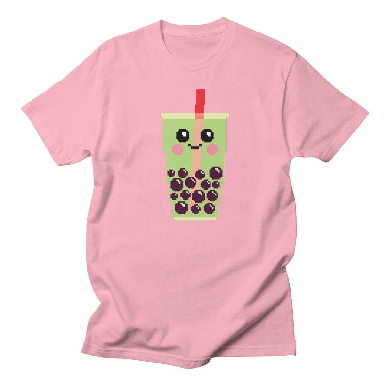 Happy Pixel Bubble Tea Men's Regular T-Shirt by Mouki K. Butt: Artist Shop