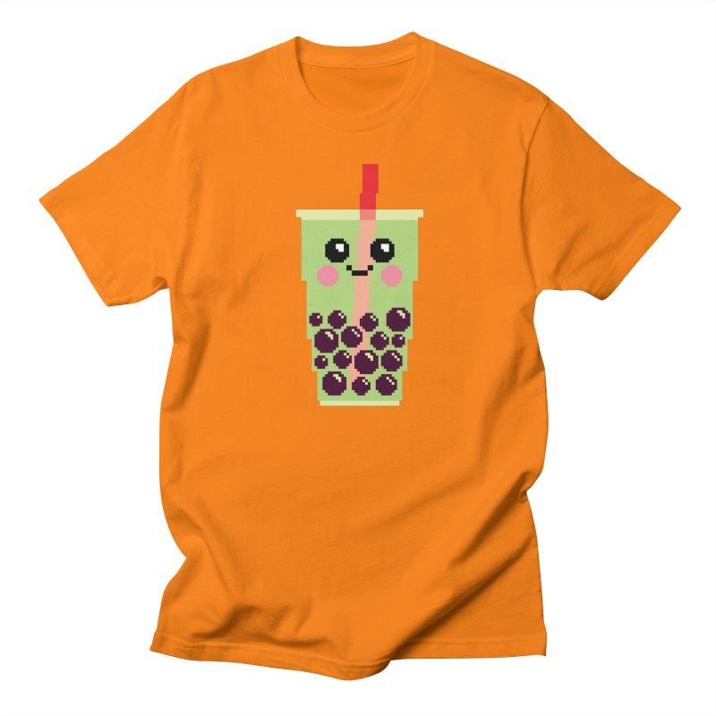 Happy Pixel Bubble Tea Women's Regular Unisex T-Shirt by Mouki K. Butt: Artist Shop