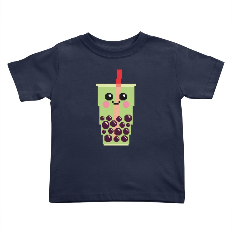 Happy Pixel Bubble Tea Kids Toddler T-Shirt by Mouki K. Butt: Artist Shop