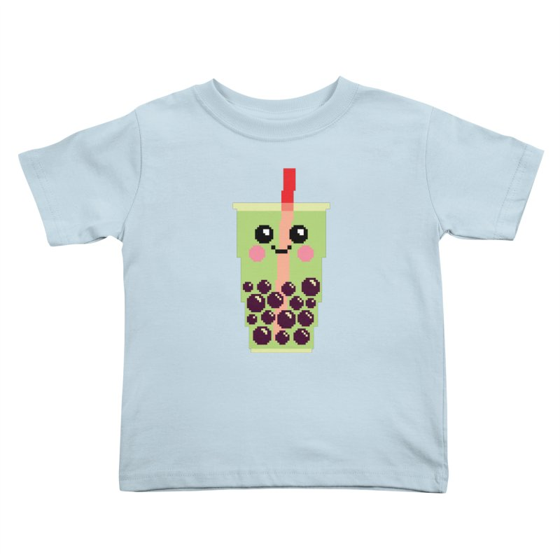 Happy Pixel Bubble Tea Kids Toddler T-Shirt by Mouki K. Butt: Artist Shop