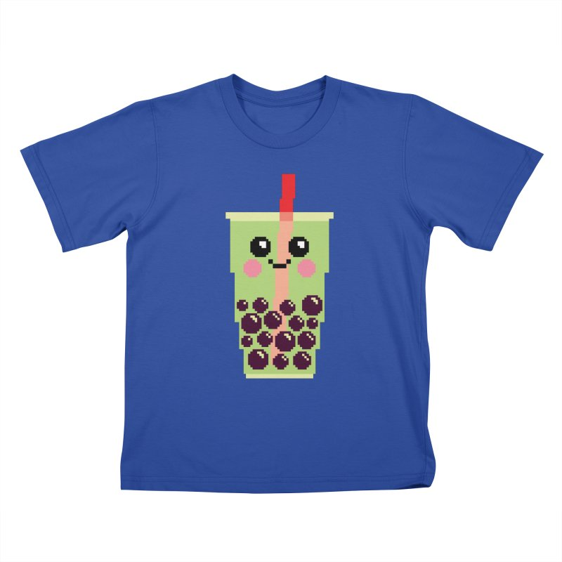 Happy Pixel Bubble Tea Kids T-Shirt by Mouki K. Butt: Artist Shop