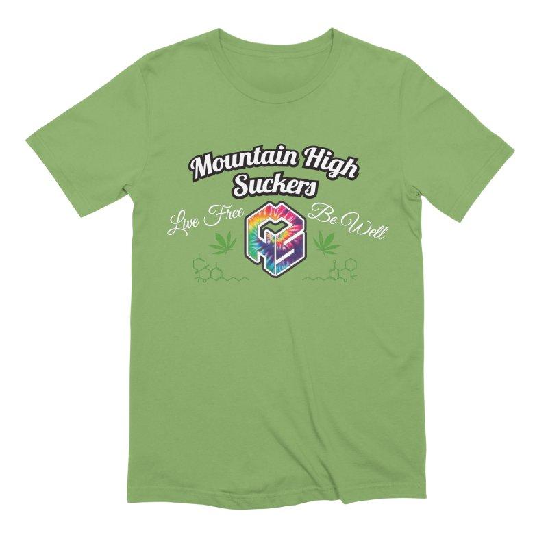 MHS Official Merch (dark) Men's Extra Soft T-Shirt by Mountain High Suckers Merch