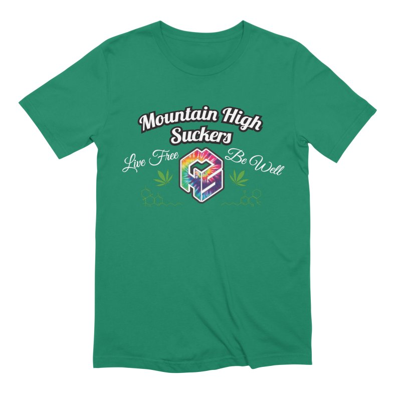 MHS Official Merch (dark) Men's Extra Soft T-Shirt by Mountain High Suckers Merch
