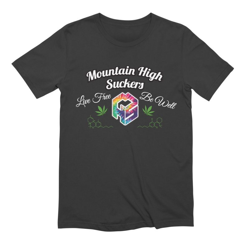 MHS Official Merch (dark) in Men's Extra Soft T-Shirt Smoke by Mountain High Suckers Merch